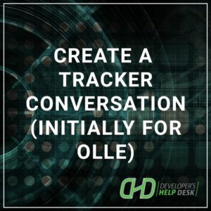 Create a Tracker Conversation