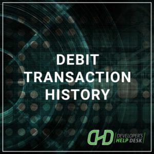 Debit Transaction History