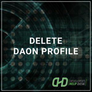 Delete DAON Profile