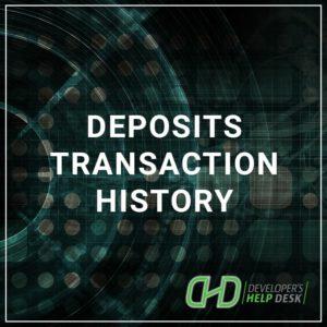 Deposits Transaction History