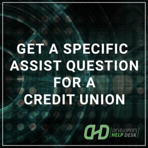 Get a Specific Assist Questions for a Credit Union
