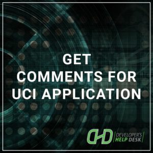 Get Comments for UCI Application