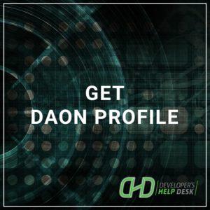 Get DAON Profile