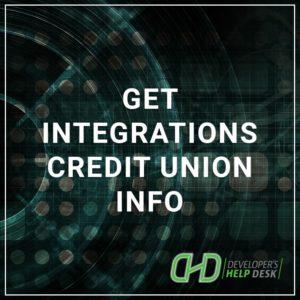 Get Integrations CU Info