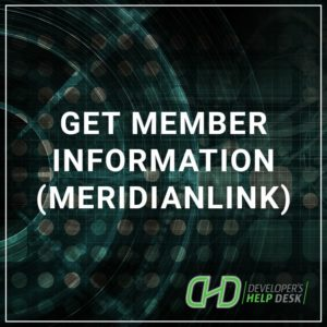 Get Member Information (MeridianLink)