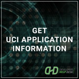 Get UCI Application Information