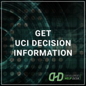 Get UCI Decision Information