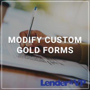 Modify Custom GOLD Forms