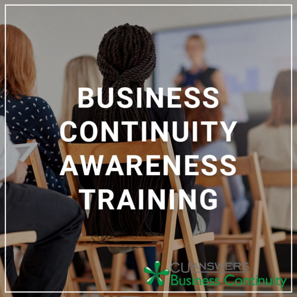 Business Continuity Awareness Training