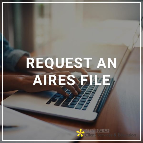 Request an AIRES File