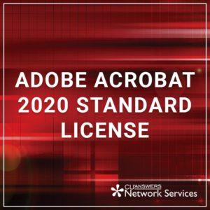 Adobe Acrobat 2020 Standard License