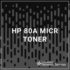 HP 80A MICR Toner
