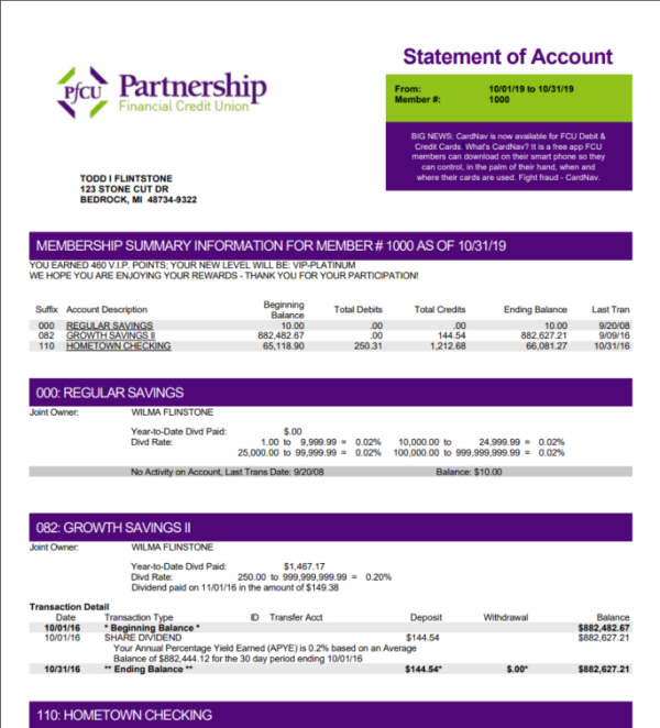 estatements - partnership