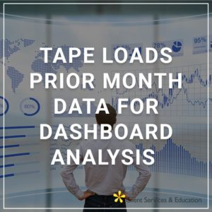 Tape Loads - Prior Month Data for Dashboard Analysis