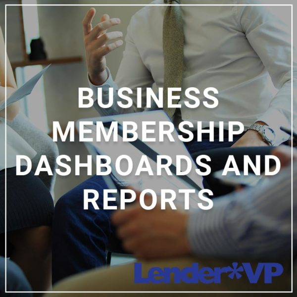 Business membership Dashboards and Reports