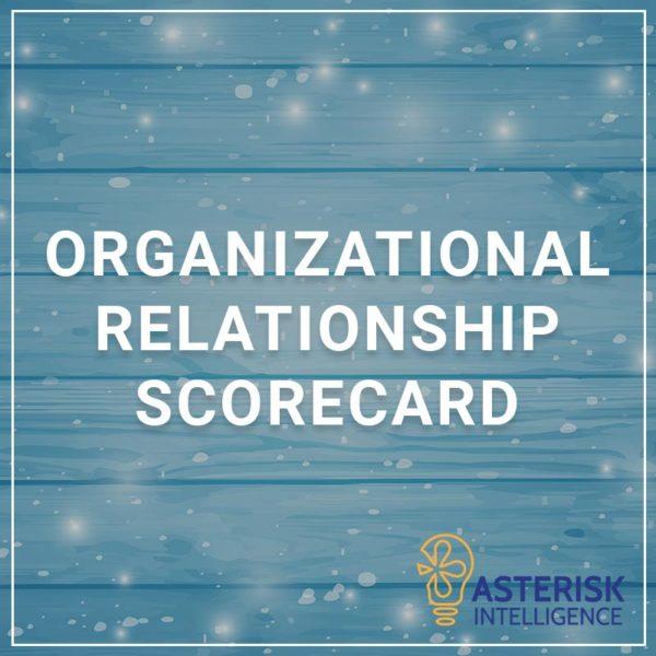 Organizational Relationship Scorecard