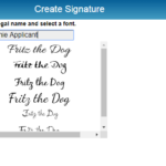 Selecting Your Signature for eSign