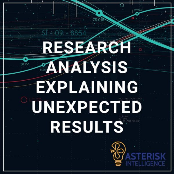 Research Analysis - Explaining Unexpected Results