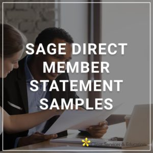 Sage DIrect Member Statement Samples