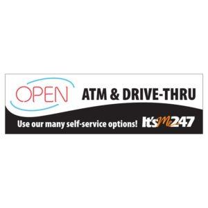 Drive thru open banner