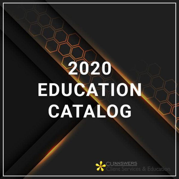 2020 Education Catalog