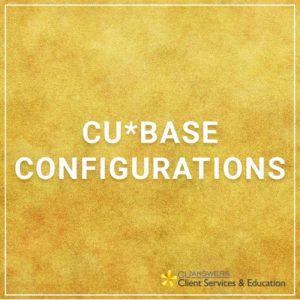 CU*BASE Configurations