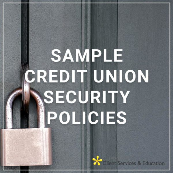 Sample Credit Union Security Policies