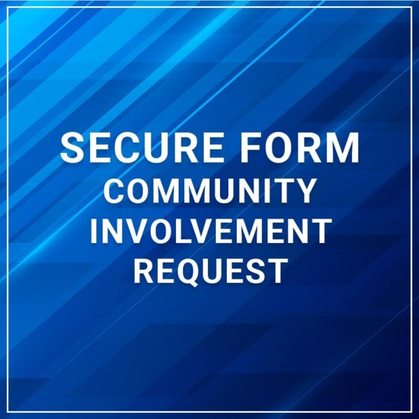 Secure Form - Community Involvement Request