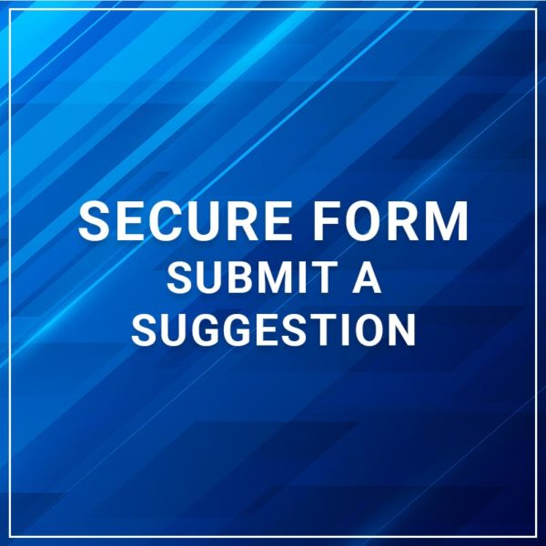 Secure Form - Submit a Suggestion