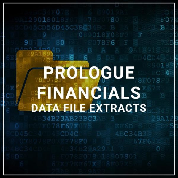 Prologue Financials Data File Extracts