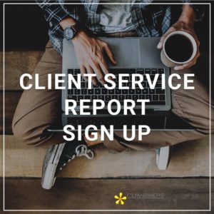 Client Service Report Sign Up