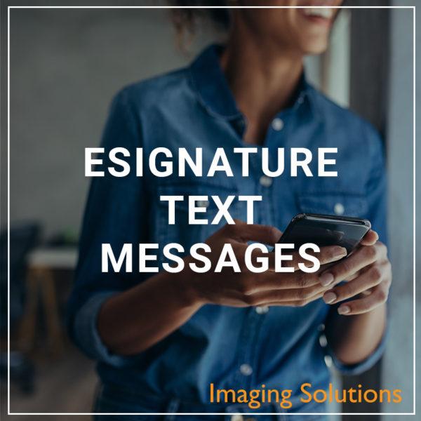 eSignature Text Messages