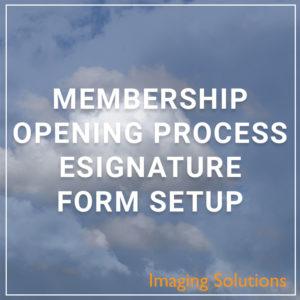 MOP eSignature Form Setup