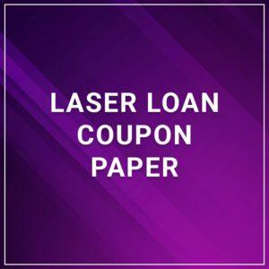 Laser Loan Coupon Paper