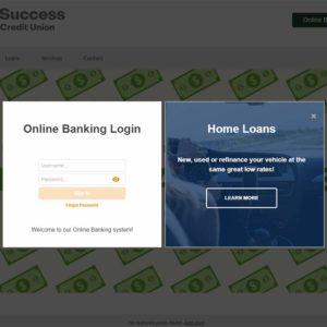 Online Banking Login Widget Modal