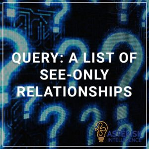 Query: a list of see only relationships